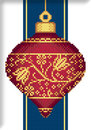 "Схема ""Red Faberge Christmas Ornament with Golden Flowers"""