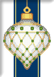 "Схема ""White Faberge Christmas Ornament with Emeralds"""