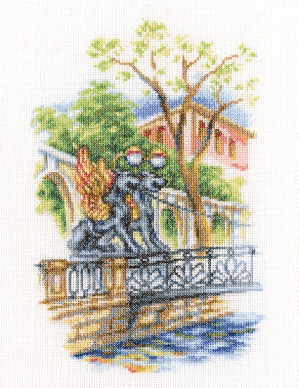 Вышивка мосты санкт-петербурга 36