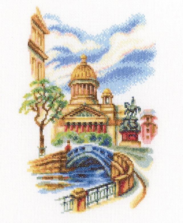 Вышивка мосты санкт-петербурга