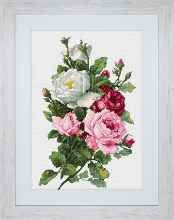 Вышивка цветов и букетов крестиком 429