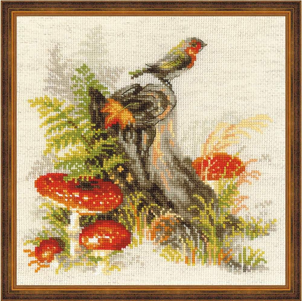 Вышивка крестом грибы риолис 16