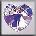 13045 Medium Heart Crystal AB