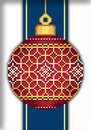 "Схема ""Red Faberge Christmas Ball with Golden Grid"""