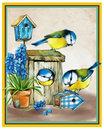 Дружные синички. Артикул: АЖ-1475. Алмазная мозаика