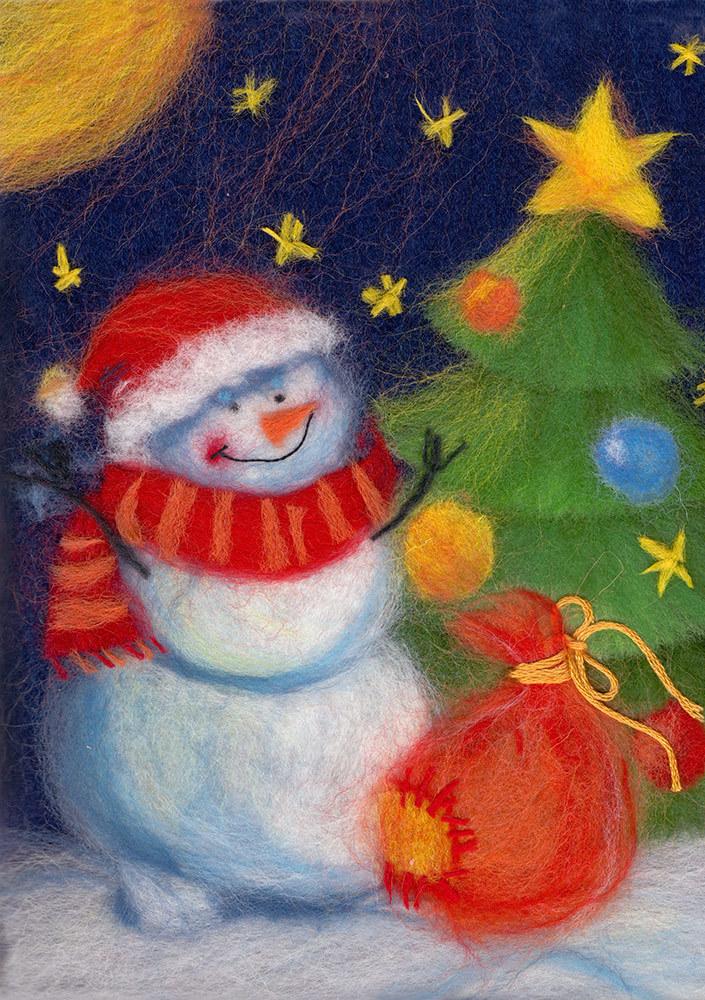 картинки из шерсти новогодние прекрасный