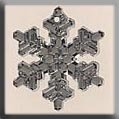 12039 Large Snowflake Crystal Bright