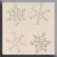 White Metal Snowflake